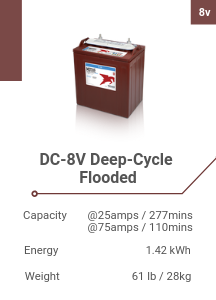 DC-8V Deep-Cycle Flooded