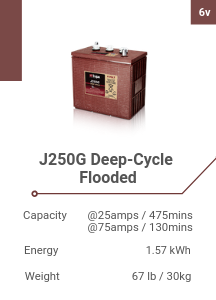 J250G Deep-Cycle Flooded