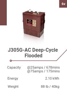 J305G-AC Deep-Cycle Flooded