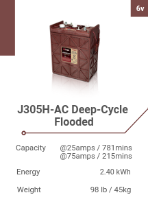 J305H-AC Deep-Cycle Flooded