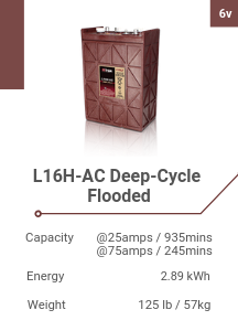L16H-AC Deep-Cycle Flooded
