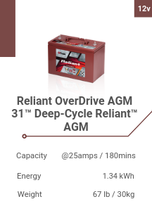 Reliant OverDrive AGM 31™ Deep-Cycle Reliant™ AGM