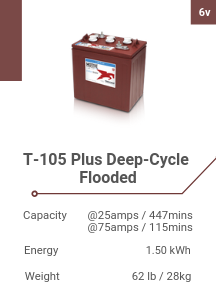 T-105 Plus Deep-Cycle Flooded