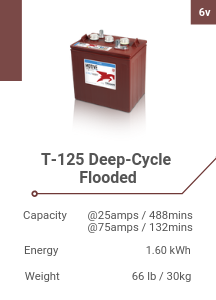 T-125 Deep-Cycle Flooded