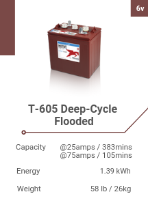 T-605 Deep-Cycle Flooded