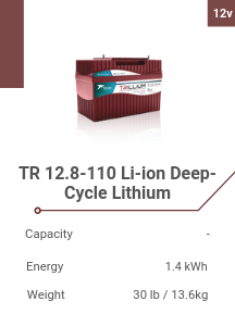 TR 12.8-110 Li-ion Deep-Cycle Lithium