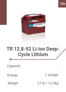 TR 12.8-92 Li-ion Deep-Cycle Lithium