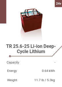 TR 25.6-25 Li-ion Deep-Cycle Lithium